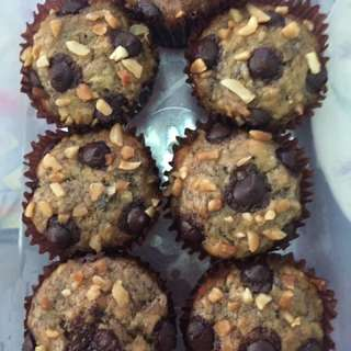 Nutty Choco Banana Cupcake