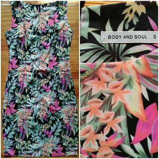 Body N Soul Dress Kaos Panjang