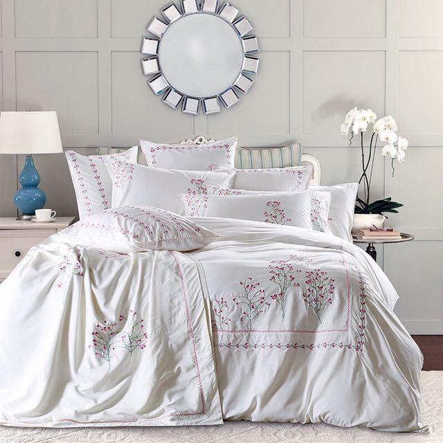 60S雙面天絲刺繡床罩組