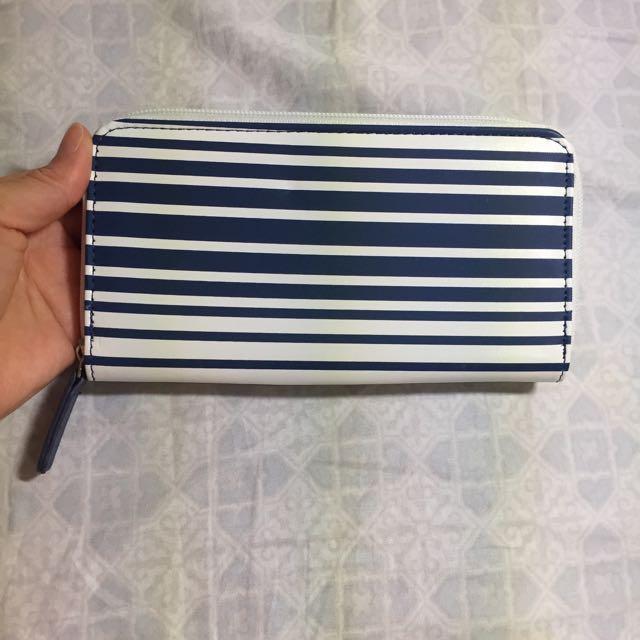 ✨經典藍白條紋長夾✨