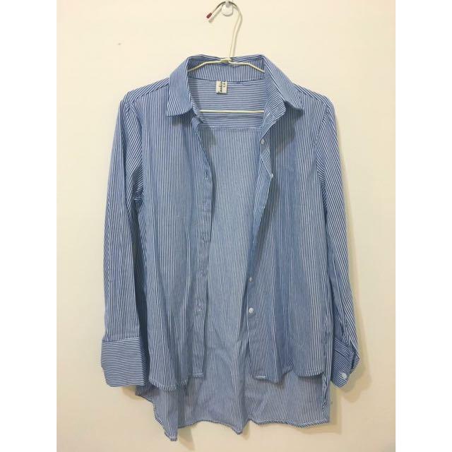 全新 藍條紋襯衫