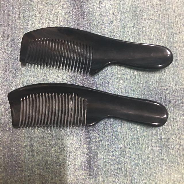 真梳正品 純手工天然牛角梳  黑水牛角梳子 按摩梳子防脫髮無靜電