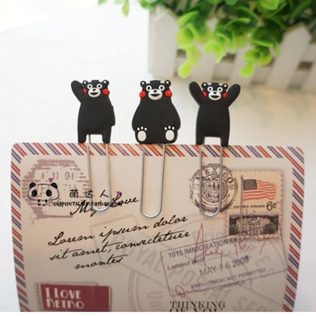 【轉角】熊本熊 熊本黑熊 迴紋針 書籤 隨機出貨不挑款