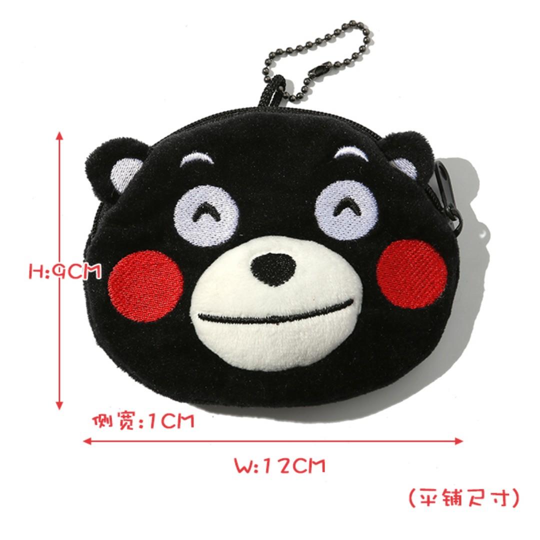 【轉角】熊本熊 熊本黑熊黑色 立體頭型 零錢包 收納包 耳機線包 卡包