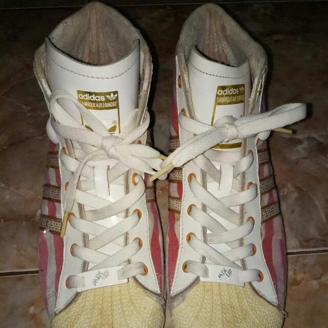 Adidas Pro Model White Red Strip Sz 42