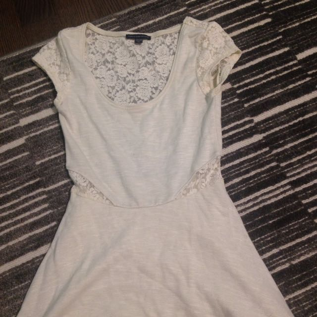 American Eagle White Lace Dress