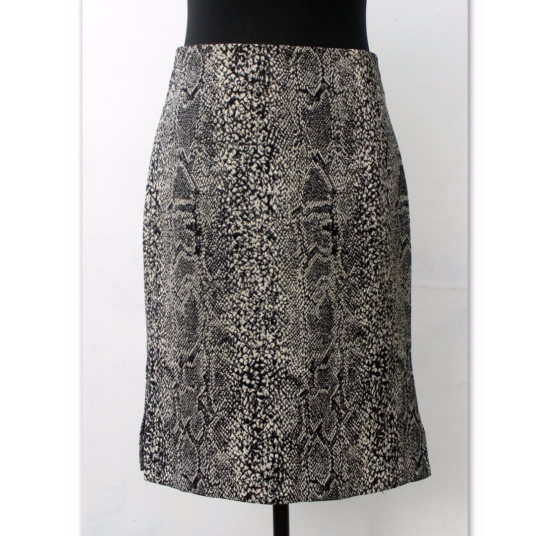 Animal Print High-Waist Skirt