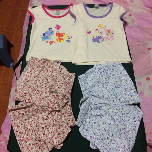 Baby Blouses And Floral Shorts Terno