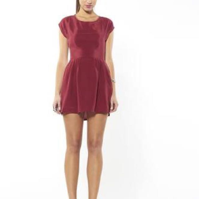Backstage Silk Dress Xs