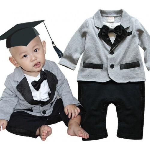 Baju baby laki-laki impor  romper set jas sc-15533