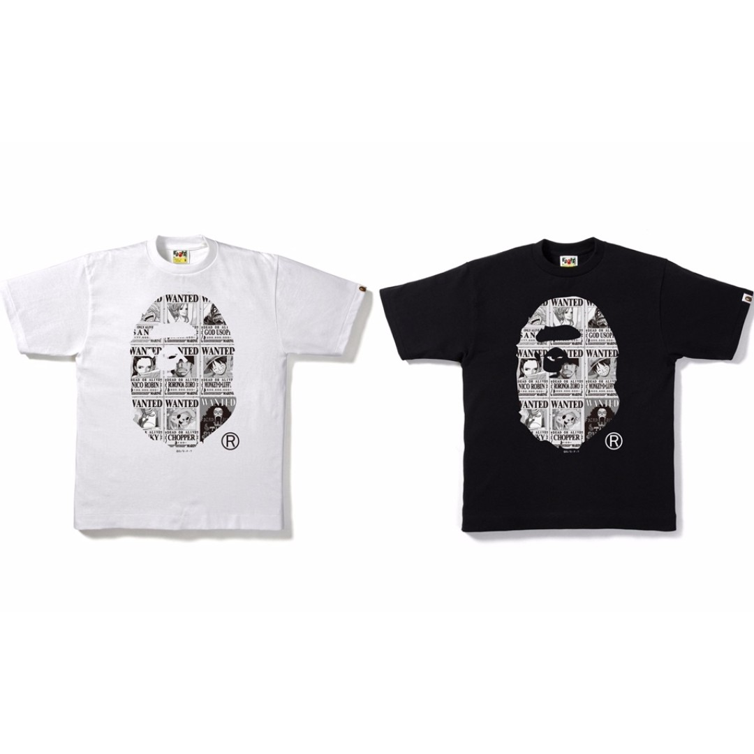 f22be498 Bape x One Piece Bounties Ape Head Tee, Men's Fashion, Clothes on ...