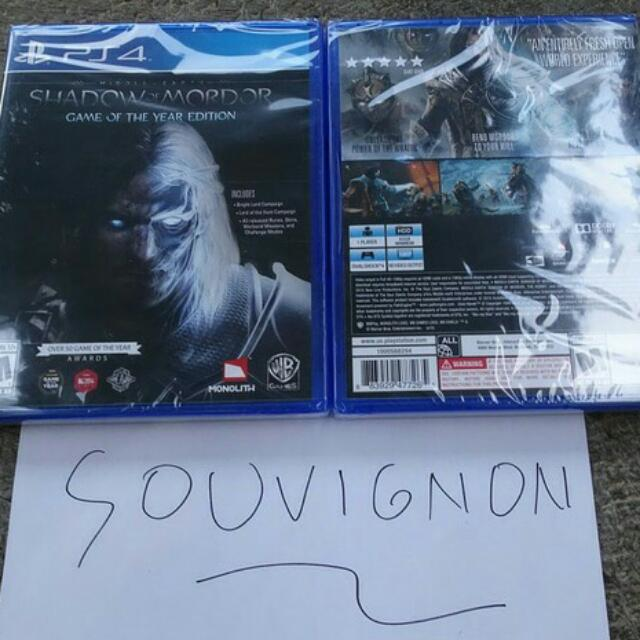 Bd Ps 4 Middle Earth Shadow Of Mordor
