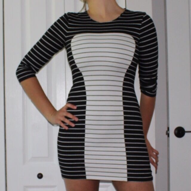 Bebe Striped Dress