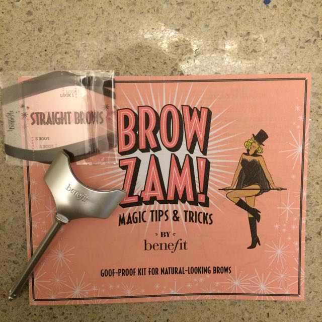 Benefit Brow Stencil and Instructions
