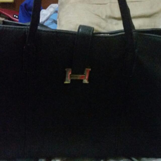 REPRICED BIG Black japan unbranded bag