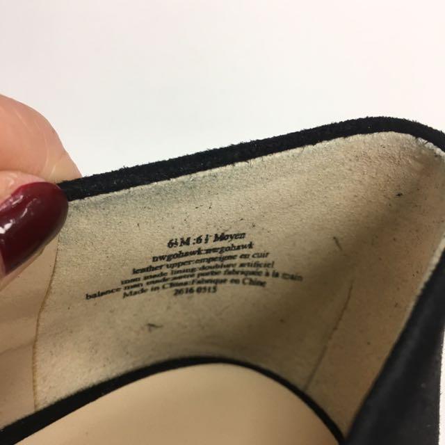 Black Nine West Suede Pump Heels Size 6.5