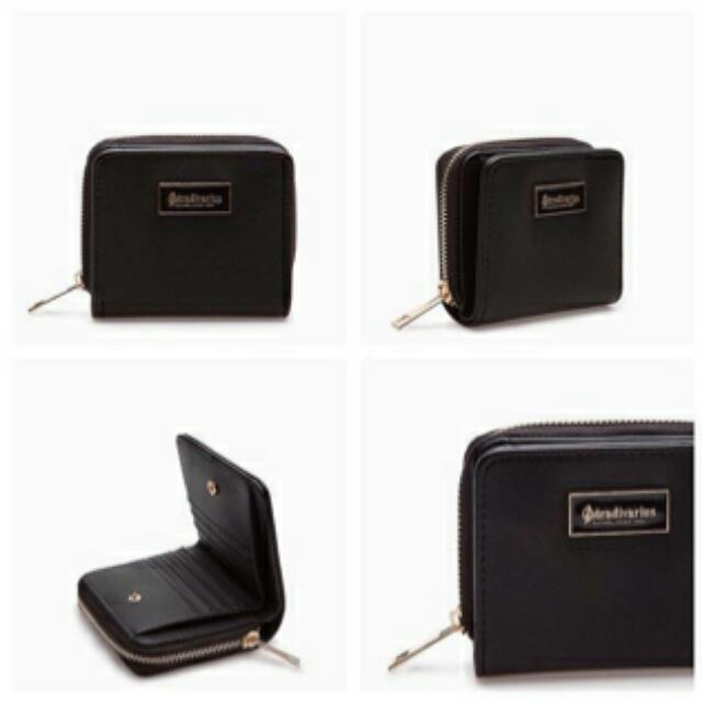 Black Stradivarius Mini Wallet / Purses