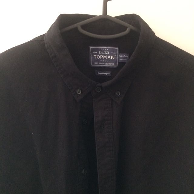 Black Topman Shirt - Large