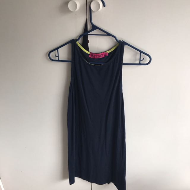 Boohoo Navy Dress Size 10