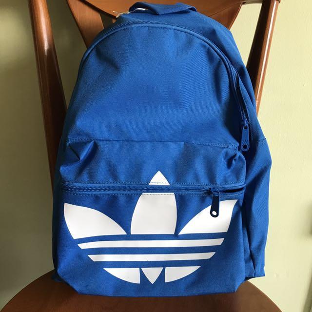 f507ddecad72 Brand New Genuine Adidas Classic Trefoil Backpack Blue