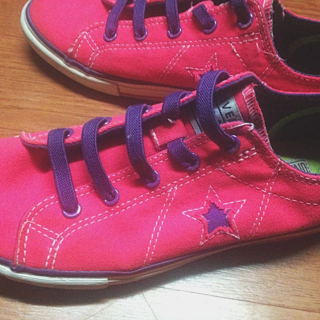 Converse Hot Pink Sneakers