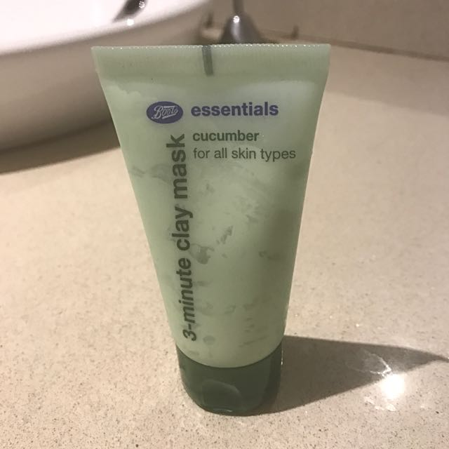 cucumber 3 minutes clay mask