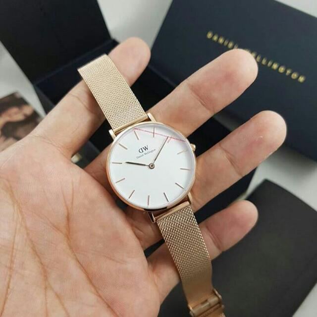 Daniel Wellington Petite 32mm Sterling and Melrose Strap