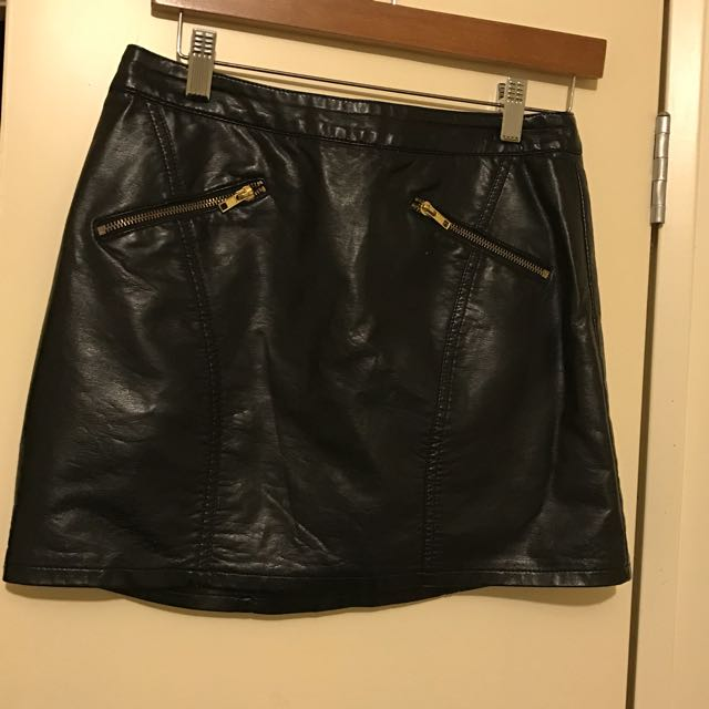 Dotti Faux Leather Skirt