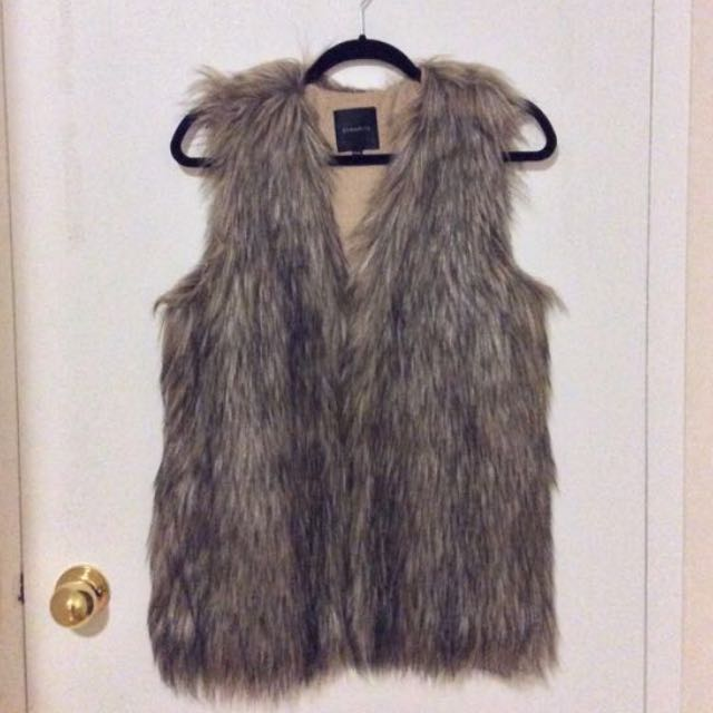 Dynamite Faux Fur Coat