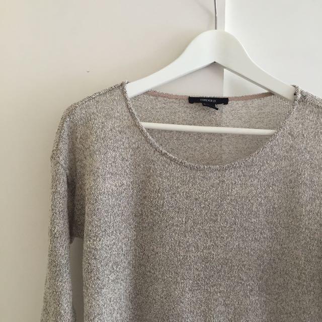 F21 Grey Knit