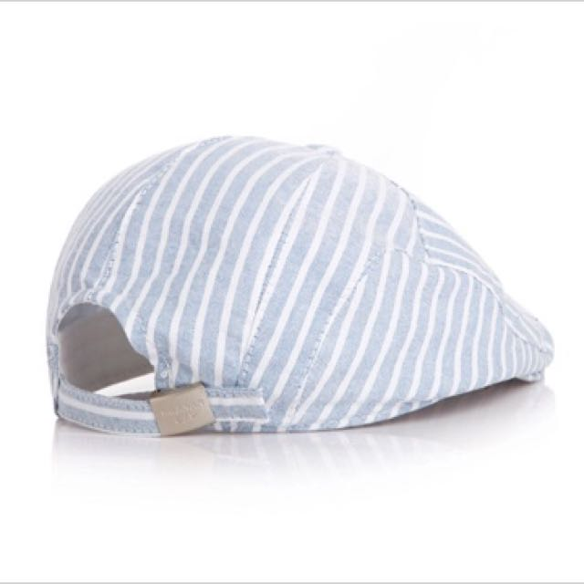 b76e80785f7 2016 New Baby Cotton Berets Baby Hats Children Hat Female Beret Stripe  pattern Caps Kid Flat Cap For Boy Girl