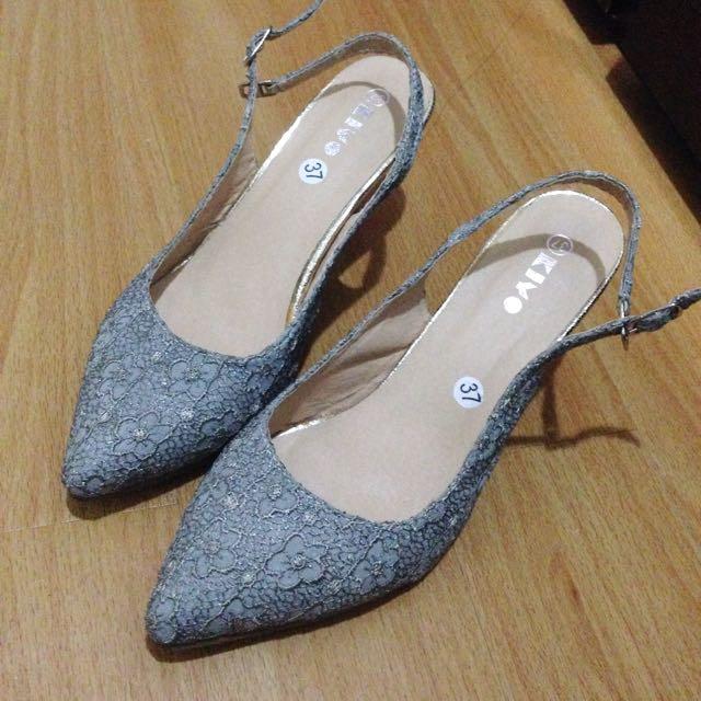 Floral Ankle Strap Heels