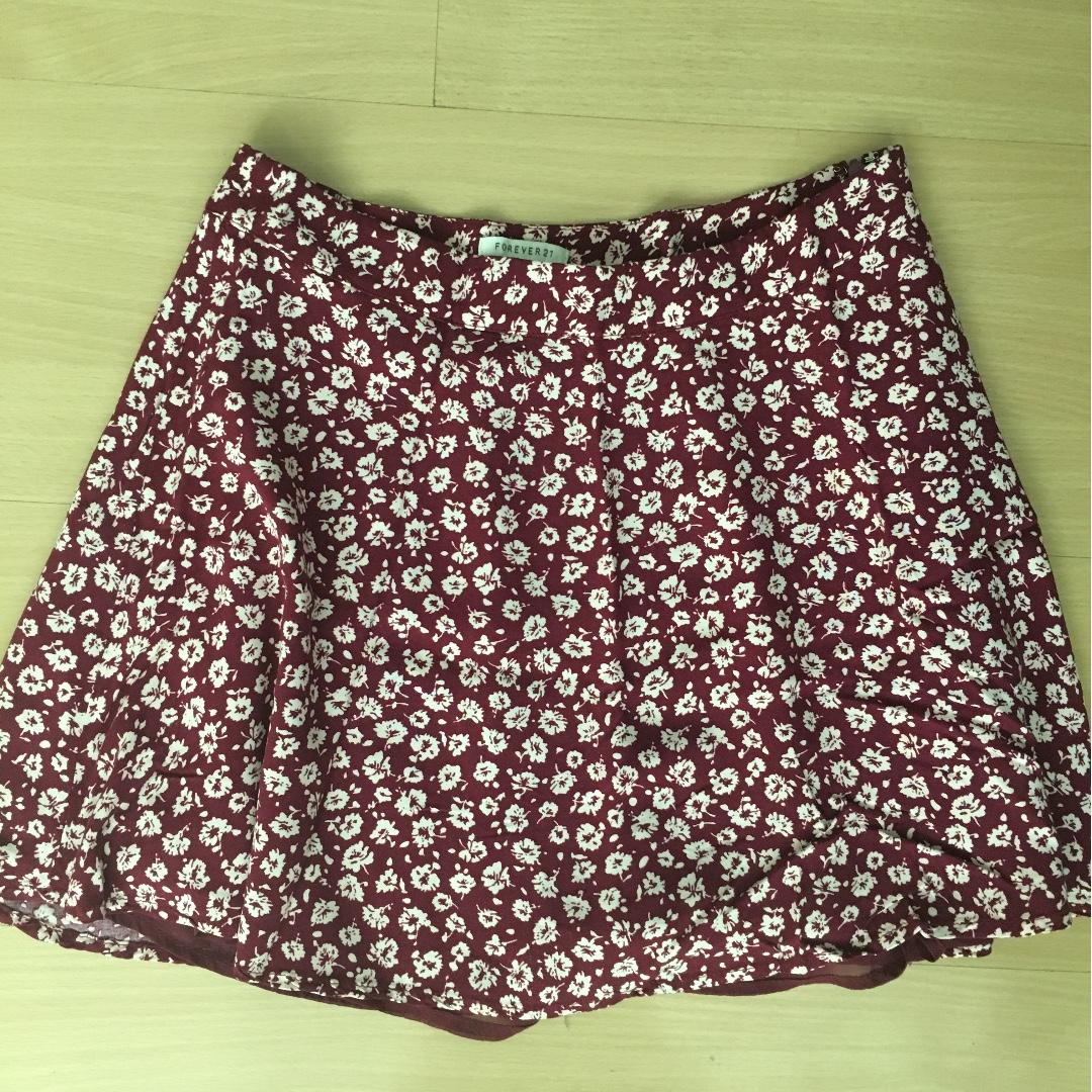 Forever21 floral flowly skirt