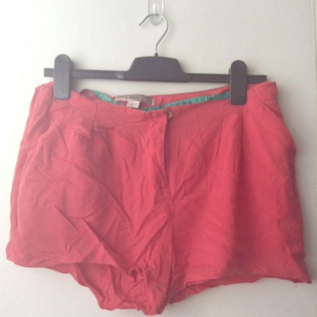 Forever21 Orange Shorts