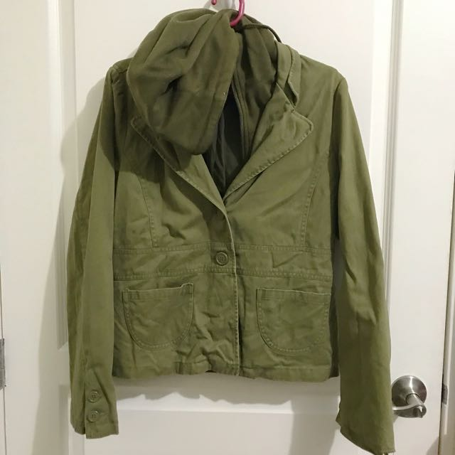 Forever 21 Army Green Hoodie