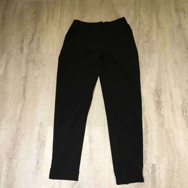 Forever 21 Cuffed Black Pants