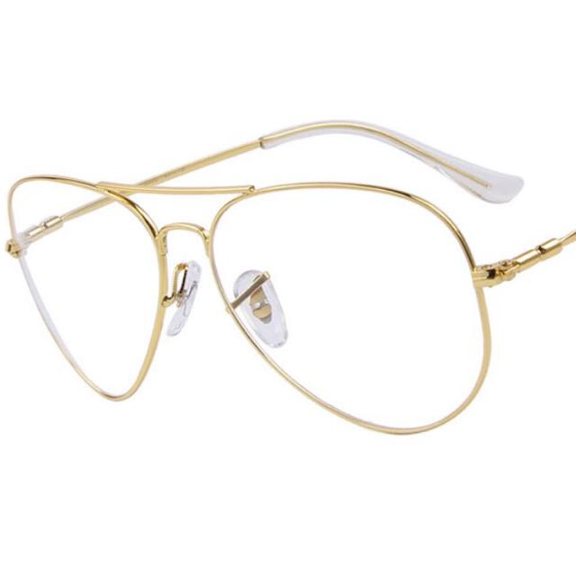 Gold frame glasses