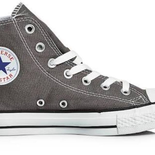 Grey Converse Mid Shoe
