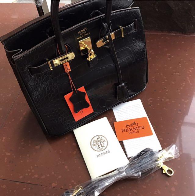 Hermes Croco Black Semi Premium