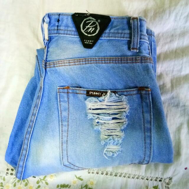 Highwaist Boyfriend Punny Jeans