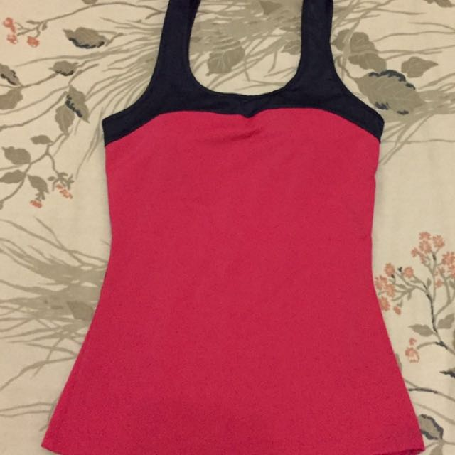 Kamiseta Black/Red Swimwear Top