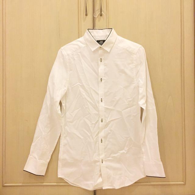 Kemeja Shirt H&M Putih XS