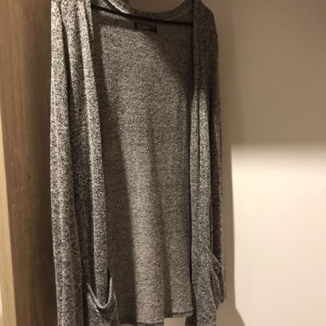 Ladies Grey Knit Cardigan