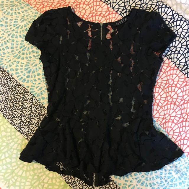Ladies Lace mesh Top