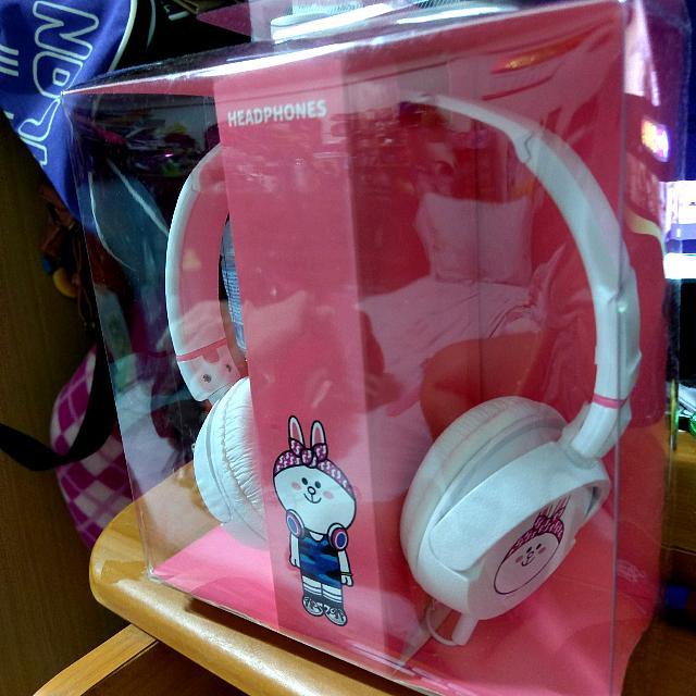 交換禮物 限定頭戴式 兔兔 白色耳機