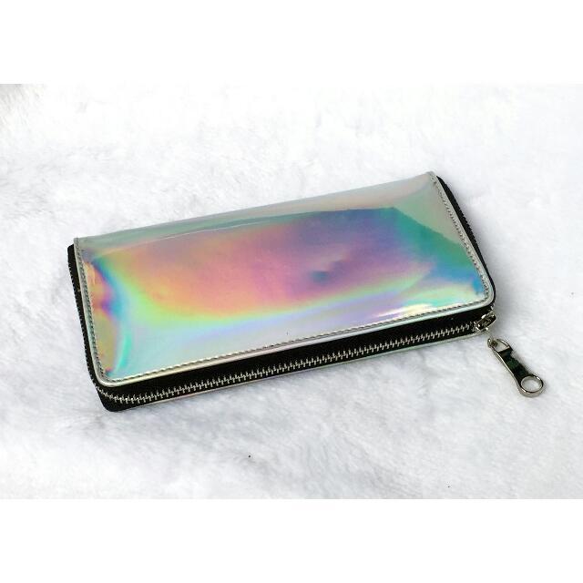 Long Holo Plain Wallet