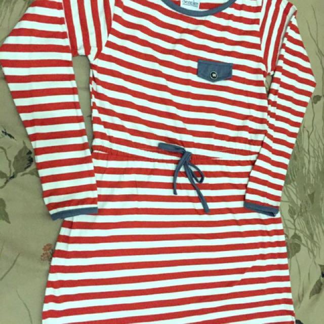 Longsleeve Adjustable Waist Stripes