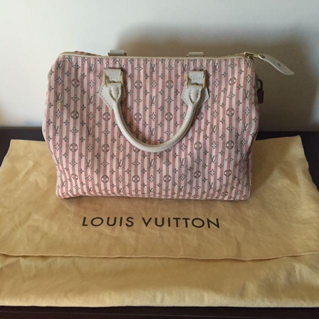 Louis Vuitton Mini Lin Croisette Speedy 30 ~ Rouge