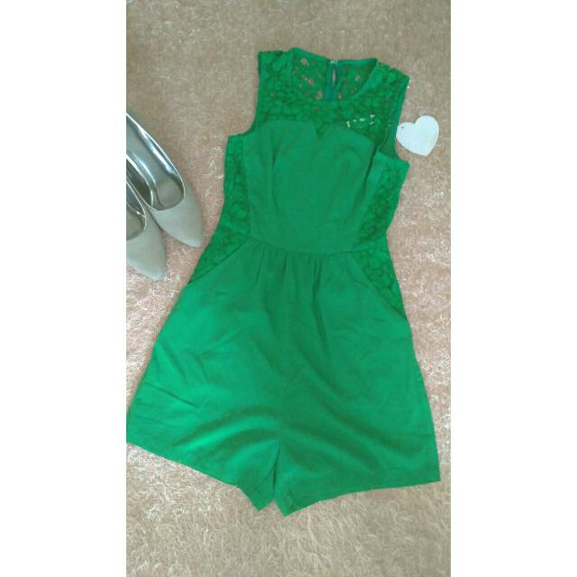 Love Bonito Green Jumpsuit