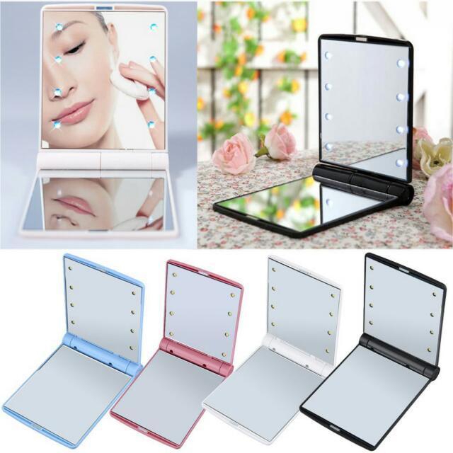 Make up pocket mirror with LED Light